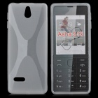 X Pattern Protective TPU Case for Nokia 515 - Transparent