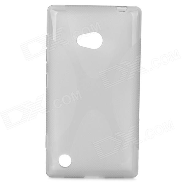 Protective X Style TPU Back Case for Nokia 720 - Translucent Grey