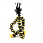 Universal Stand Holder Mini Octopus TrIPOD for GoPro - Yellow