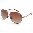 Reedoon 1328 Unisex Outdoor Sports UV400 Protection Polarized Sunglasses - Brown