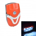 YinHao YH-0902 Bike Electronic Plastic Horn Warning Headlight Bell w/ Holder Mount -Orange (3 x AAA)
