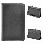Protective Flip Open PU Leather Case w/ Stand for Asus VivoTab Smart ME400C - Black