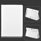 Protective Flip Open PU Leather Case w/ Stand for Asus VivoTab Smart ME400C - White
