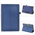 Protective Flip Open PU Leather Case w/ Stand for Asus VivoTab Smart ME400C - Deep Blue