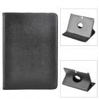 Rotatable Protective Flip Open PU Case w/ Stand for Samsung Galaxy Note 10.1 2014 Edition - Black