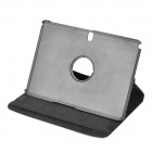 Rotatable Tablet Protective Flip Open PU Case w/ Stand - Black