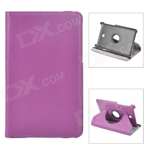 Rotatable Protective Flip Open PU Leather Case w/ Stand for Asus FonePad HD 7 ME372CG - Purple