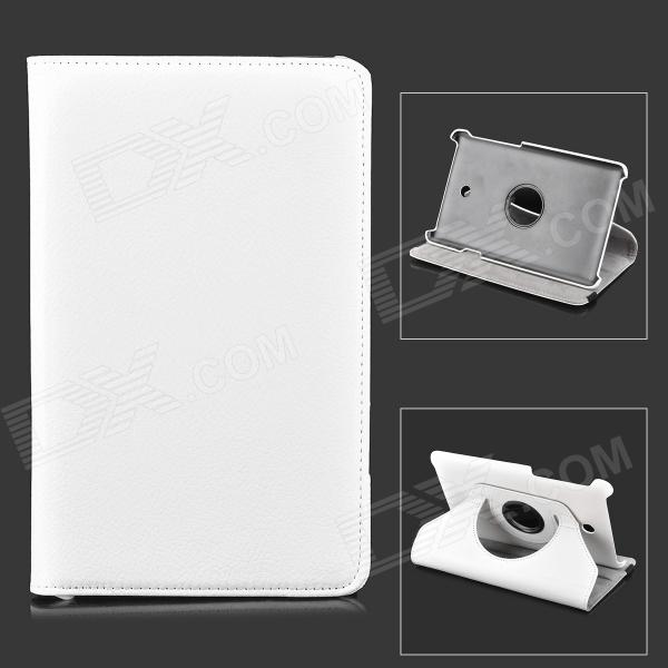 Rotatable Protective Flip Open Case w/ Stand for Asus FonePad HD 7 ME372CG - White