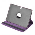 Rotatable Protective Flip Open PU Case w/ Stand for Samsung Galaxy Note 10.1 2014 Edition - Purple