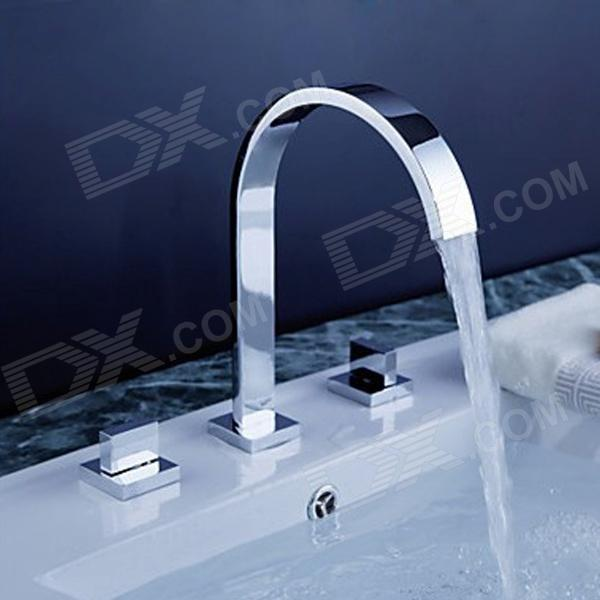 YDL-F-0513 High quality Curved Waterfall of Sink Hot / Cold Water Tap - Silver