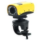 "RD-F3000 1.5"" LCD 5.0 MP 720P Mini Sports DV Water Resistant Camera Camcorder w/ TF / 8-LED - Yellow"