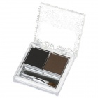 B36-01 Makeup 2-Color Eyebrow Powder - Black + Brown