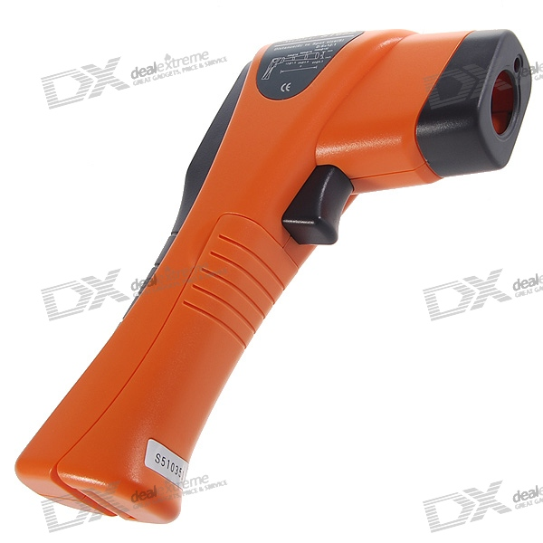 Digital InfraRed Thermometer with Laser Sight (-25'C~600'C/-13'F~1112'F)