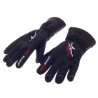 PRO-BIKER MTV-06 Stylish Waterproof Warm Full Finger Motorcycle Racing Gloves - Black(Pair / Size-L)