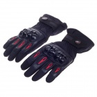 PRO-BIKER Stylish Waterproof Warm Full Finger Motorcycle Racing Gloves - Black + Red(Pair / Size-XL)