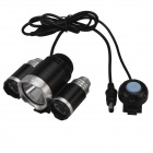 SingFire SF-801B 1800lm 3-Mode White Bicycle Light w/ 3 x Cree XM-L T6 - Black + Silver (4 x 18650)