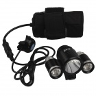 SingFire SF-801C 1000lm 3-Mode White Bike Light w/ Cree XM-L T6 + 2 x XP-E R2 - Black (4 x 18650)