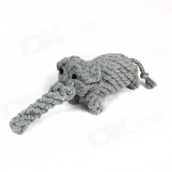 Pet Handmade Cotton Rope Elephant Toy for Dog - Grey