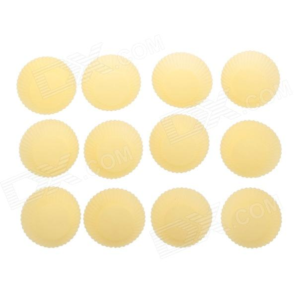 Cute Silicone DIY Cake / Dessert Mould - Yellow (12 PCS)