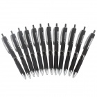 M&G AGP81601 0.5mm Comfortable Grip Black Gel Ink Pen - Black (12 PCS)
