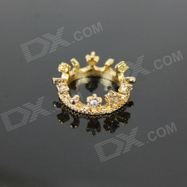 Stylish Crown Style Zinc Alloy Women's Ring - Golden