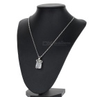 Crystal Gift Box Style Zinc Alloy Necklace - Silver