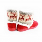 Fashionable Thickening Version Warm Household Deer Pattern Snow Boots - Red (Size-40)