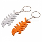 Fishbone Aluminium Alloy Smart Wrap + Bottle Opener Keychain (Assorted Color)