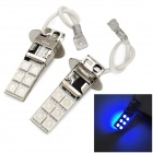 exLED H3 4.8W 144lm 12-SMD 5050 LED Blue Light Car Backup Light / Foglight - (12V / Pair)