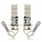 exLED H3 4.8W 144lm 12-SMD 5050 LED Blue Light Car Backup Lys / Tåke - (12V / Pair)
