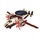 Robotime P340 Solar-Powered Educational Toys Wooden Aircraft Assembly Model - Black
