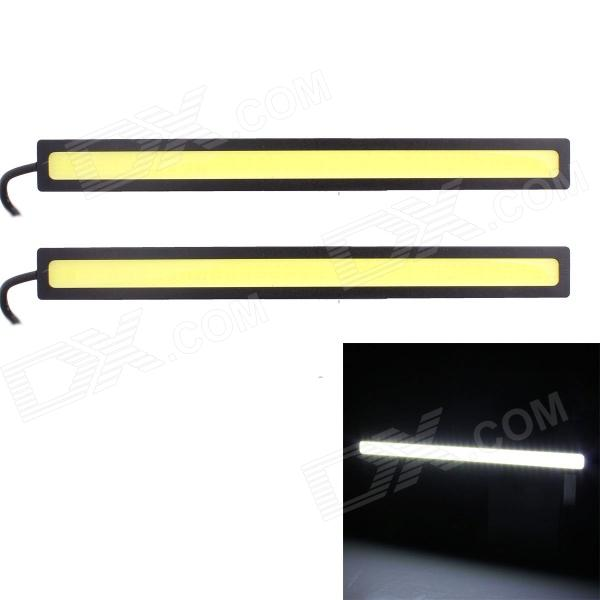 6W 450lm COB LED White Light Car Daytime Running Lamp - (12V / 2 PCS) car styling top quality led daytime running light drl for mitsubishi outlander with yellow turn light function