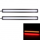 6W 450lm COB LED Red Light Car Daytime Running Lamps - (12V / 2 PCS)