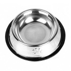 Stainless Steel Dog Bowl - Silver (Size-M)