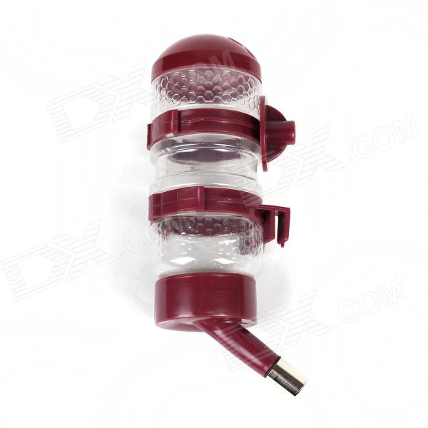 Stylish Plastic Pet Water Dispenser - Red (500mL)