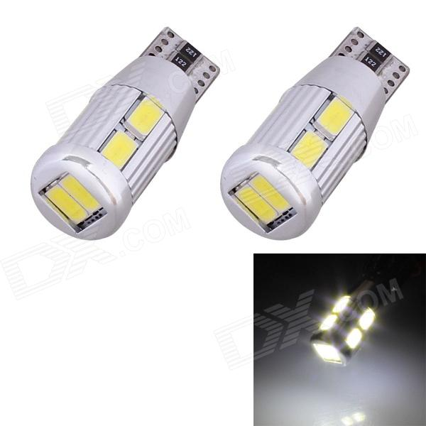 T10 5W 240lm 10 x SMD 5630 LED Error Free Canbus White Light Car Clearance Lamp - (DC 9~18V / 2 PCS) t10 3w 144lm 6 x smd 5630 led error free canbus white light car lamp dc 12v 2 pcs page 2