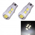 T10 5W 240lm 10 x SMD 5630 LED Error Free Canbus White Light Car Clearance Lamp - (DC 9~18V / 2 PCS)