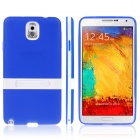 ENKAY Protective TPU Case w / Holder Stand for Samsung Galaxy Note 3 / N9000 - Dark Blue