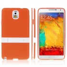 ENKAY Protective TPU Case w / Holder Stand for Samsung Galaxy Note 3 / N9000 - Orange