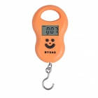 "BYXAS CZA-106 1.57"" LCD Digital Portable Scale - Orange (50kg / 10g / 2 x AAA)"