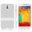 ENKAY Protective TPU Case w / Holder Stand for Samsung Galaxy Note 3 / N9000 - White