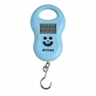 "BYXAS CZA-107 1.57"" LCD 4-Digital Portable Digital Scale - Blue (50kg / 10g / 2 x AAA)"