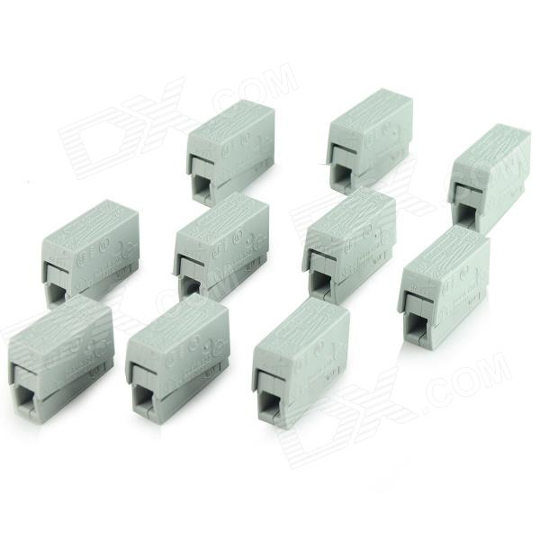 Universal PA6 Terminal - Grey - (10 PCS / 250V / 20A) 1pcs 222 415 universal compact wire wiring connector 5 pin conductor terminal block with lever awg 28 12