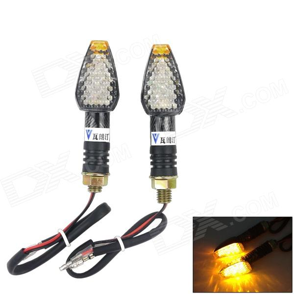 WaLangTing 0.5W 60lm 580nm 4-LED Yellow Light Motorcycle Steering Light - (12V / 2 PCS)