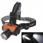 220lm 2-Mode Chargeable White Light LED Headlamp w/ Cree Q5 - Orange + Black (1 x 18650)