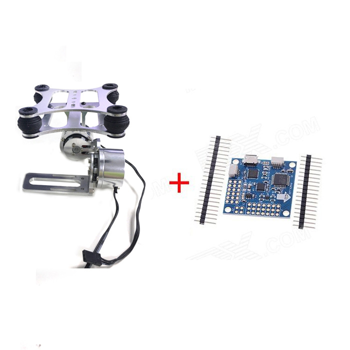 2-Axis Brushless Gimbal Camera Frame w/ 2 Motors + MWC SE V3.0 Control Board for Gopro1/2/3 FPV free shipping feiyu tech g4 gs gimbal 3 axis brushless gimbal for sony hdr az1vr fdr x1000v as series sport auction camera