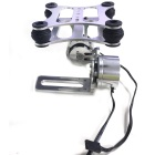 2-Axis Aluminum Brushless Camera Mount Gimbal w/ 2 Motors for Gopro Hero 1/2/3 DJI Phantom FPV