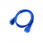ULT-unite ULT-0258 USB 3.0 Mainboard 20-Pin Male to Female Extension Data Cable - Deep Blue (50cm)