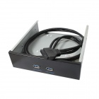 ULT-unite ULT-6256 20-Pin Female to 2-USB 3.0 Port CD-ROM Position Front Panel - Black + Grey