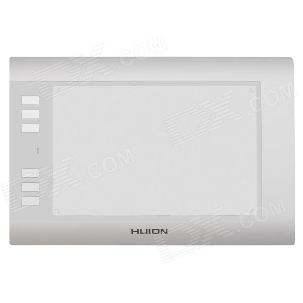 Huion H58L USB 2.0 Sketching Graphic Tablet w/ 6 Function Keys - White huion p608n usb 26 function keys graphic tablet black